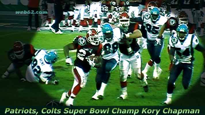 photo from RB Kory Chapman Patriots Colts